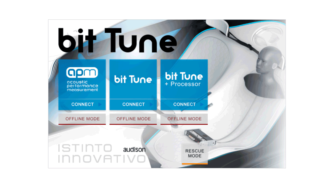 bit Tune Splash screen with APM tool